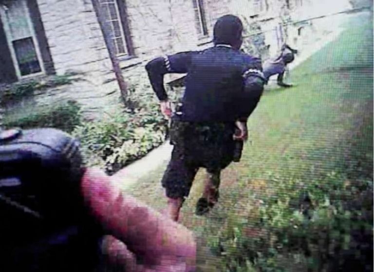 Body camera footage was shown during the trial of a Milwaukee police officer