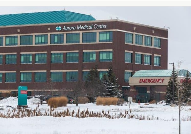 Aurora Medical Center in Grafton, Wisconsin in time of Covid 19 Winter 2021